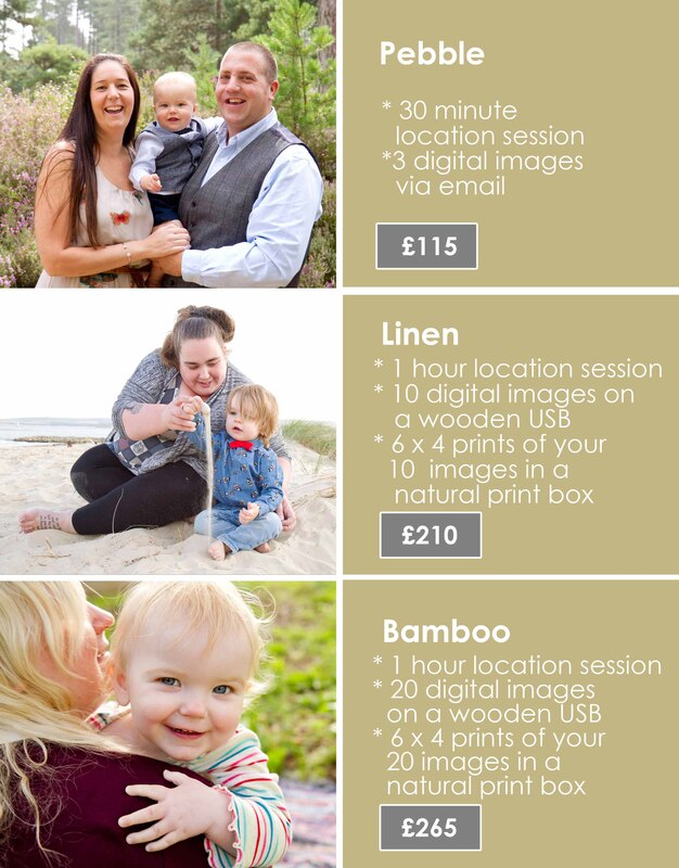 Samantha Prewett Photography Family Prices
